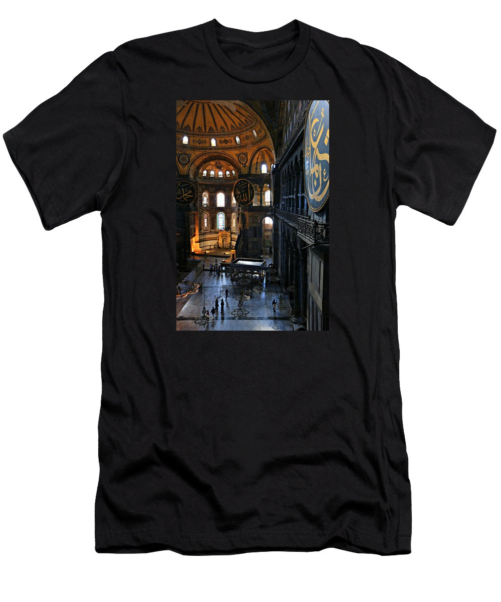 Ancient Men's T-Shirt (Athletic Fit) featuring the photograph Hagia Sophia by Stephen Stookey