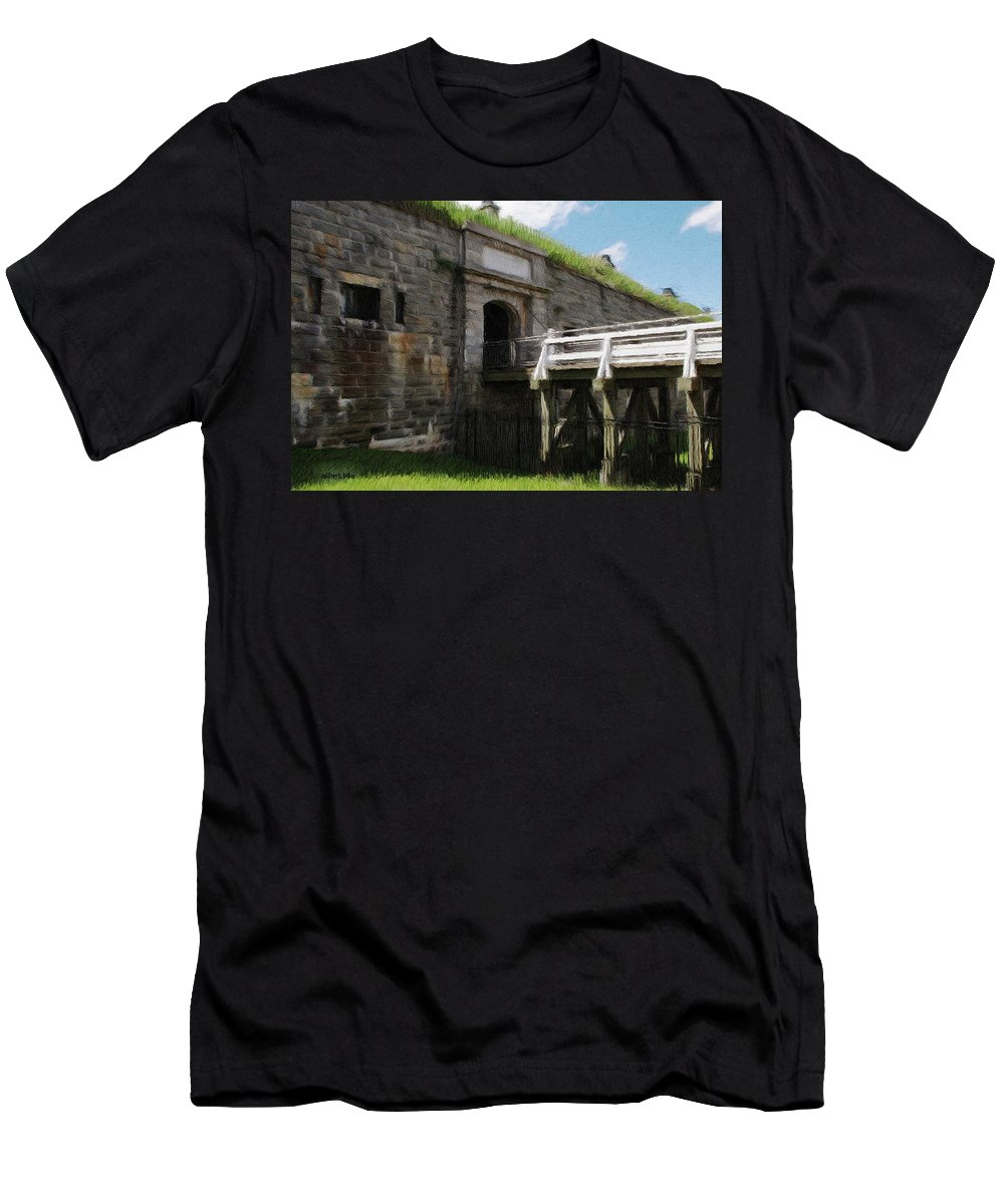 Canadian Men's T-Shirt (Athletic Fit) featuring the painting Halifax Citadel by Jeffrey Kolker