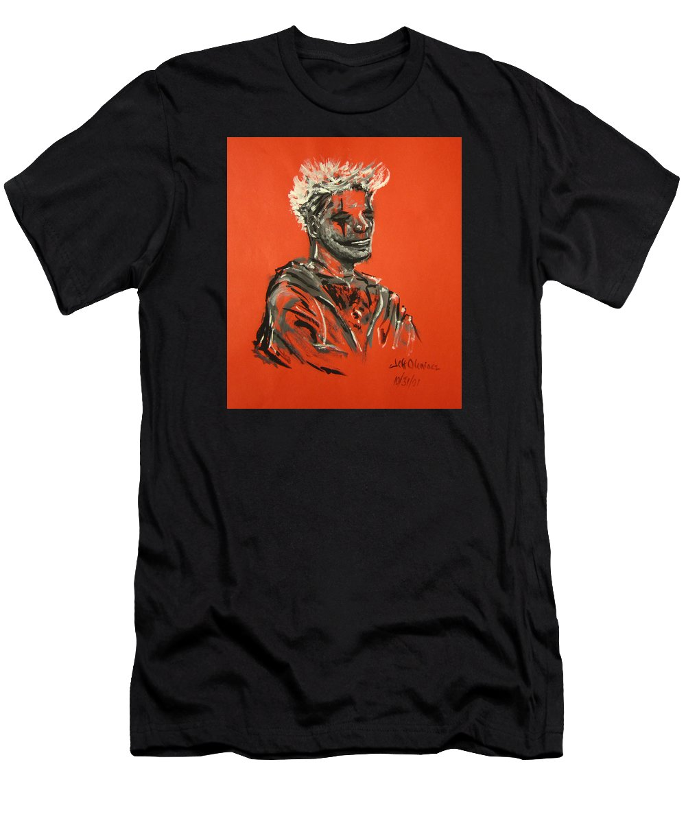 Halloween Men's T-Shirt (Athletic Fit) featuring the painting Halloween Figure by Jeffrey Oleniacz