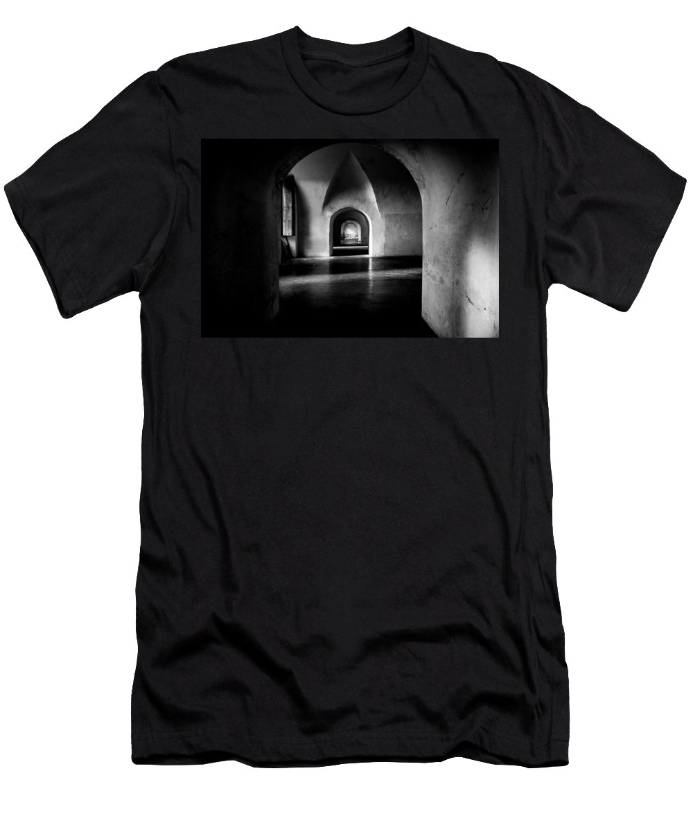 Puerto Rico Men's T-Shirt (Athletic Fit) featuring the photograph Halls by Kristopher Schoenleber