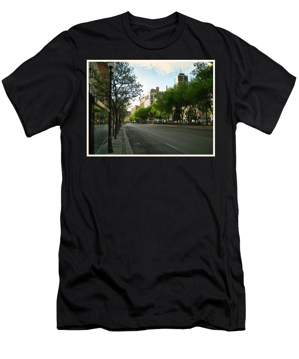 Hamilton Men's T-Shirt (Athletic Fit) featuring the photograph Hamilton At Dawn by Shawn Dall
