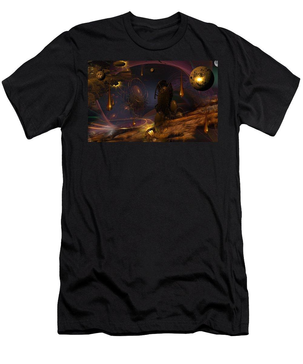 Phil Sadler Men's T-Shirt (Athletic Fit) featuring the digital art Hamlet Part The Third...a Parting... by Phil Sadler