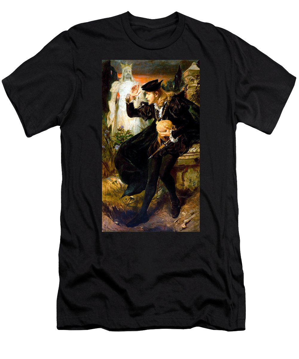 Pedro Americo Men's T-Shirt (Athletic Fit) featuring the digital art Hamlets Vision by Pedro Americo