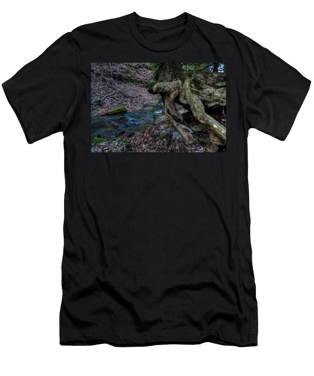 Tree Men's T-Shirt (Athletic Fit) featuring the photograph Hang In There by David Dufresne