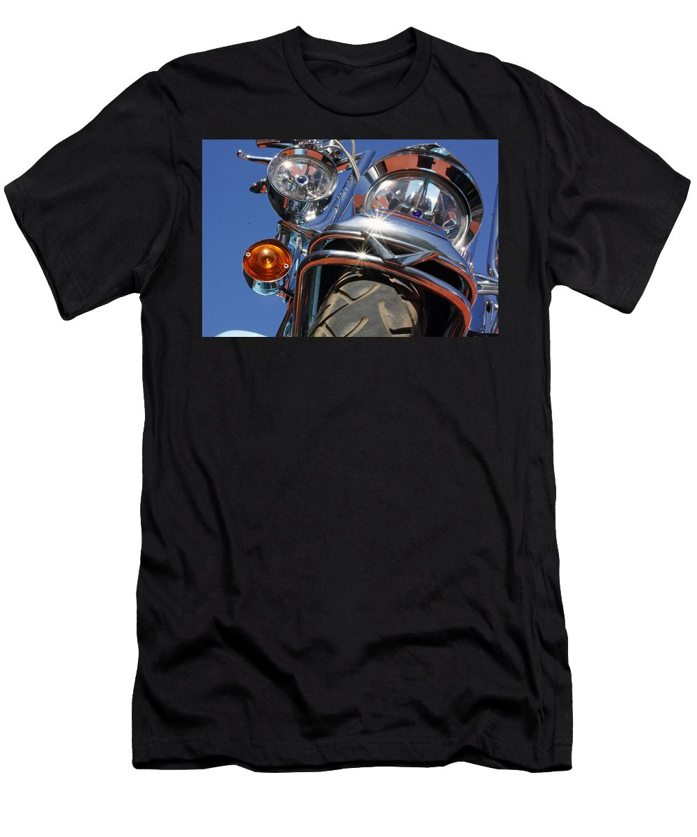 Harley Davidson Men's T-Shirt (Athletic Fit) featuring the photograph Harley Close Up by Shoal Hollingsworth