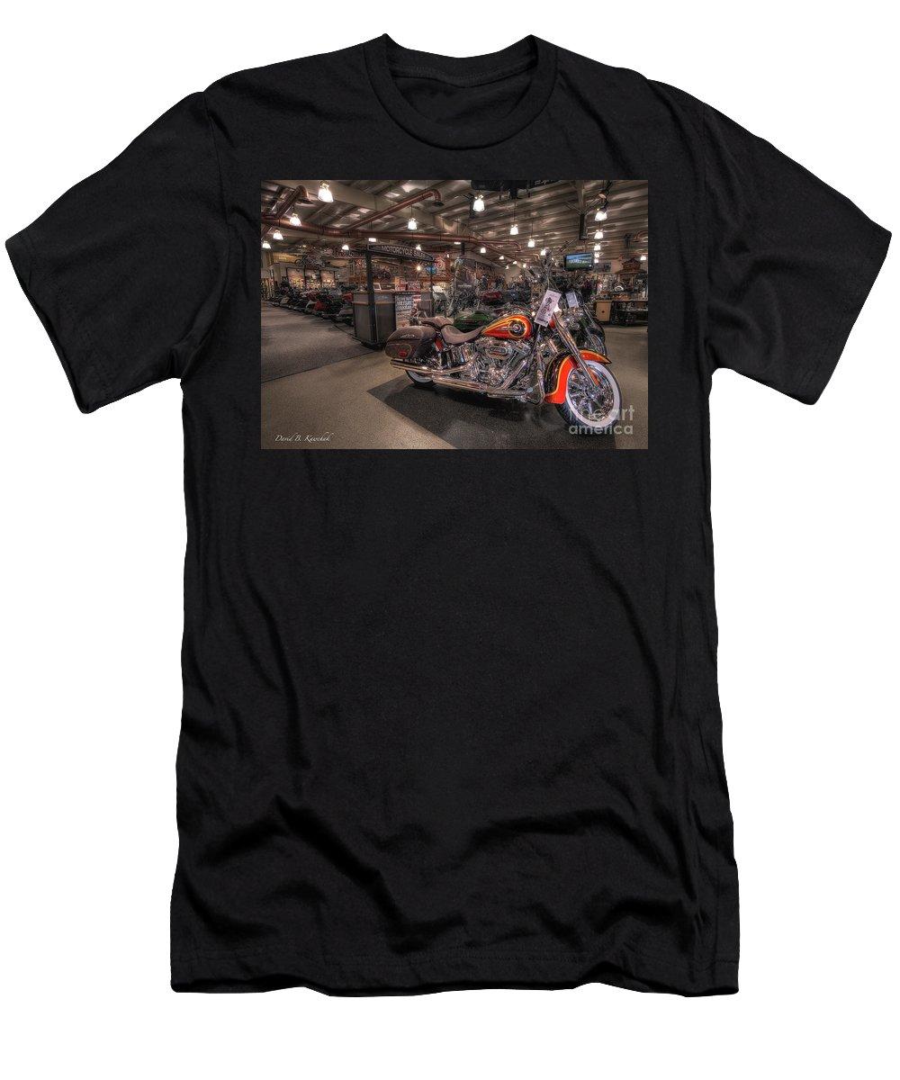 Harley Davidson Men's T-Shirt (Athletic Fit) featuring the photograph Harley Davidson by David B Kawchak Custom Classic Photography