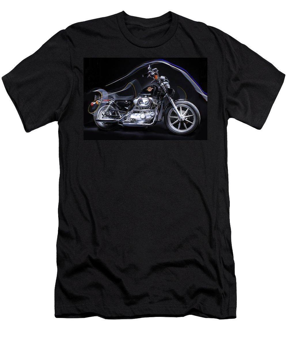 Harley Davidson Men's T-Shirt (Athletic Fit) featuring the photograph Harley Davidson Sportster by Joseph LaPlaca