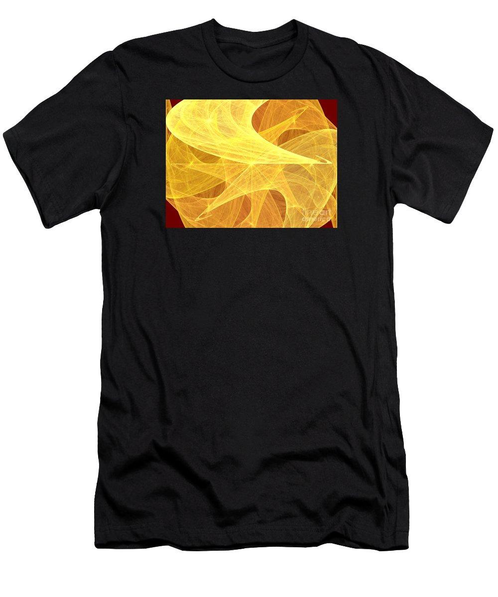 Digital Art Men's T-Shirt (Athletic Fit) featuring the digital art Harmonic Composition by Alvardo Rockigres