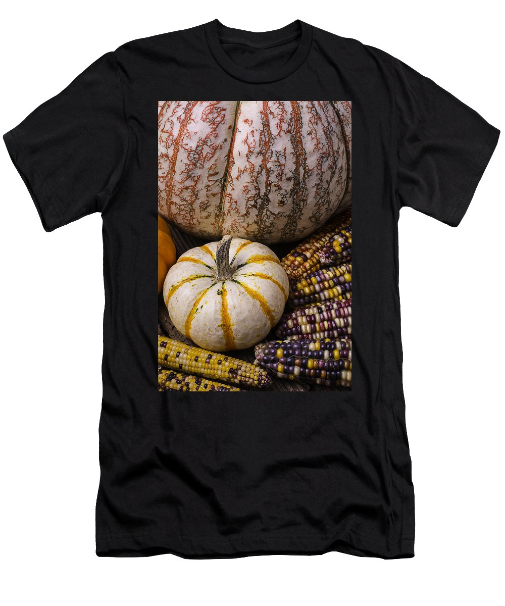 Colorful Men's T-Shirt (Athletic Fit) featuring the photograph Harvest Still Life by Garry Gay