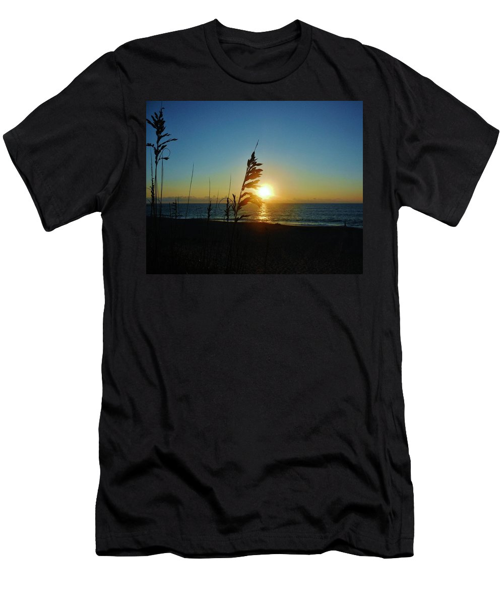 Mark Lemmon Cape Hatteras Nc The Outer Banks Photographer Subjects From Sunrise Men's T-Shirt (Athletic Fit) featuring the photograph Hatteras Island Sunrise 4 8/23 by Mark Lemmon