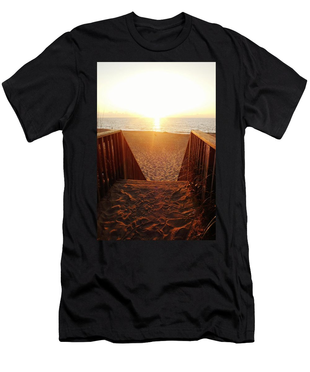 Mark Lemmon Cape Hatteras Nc The Outer Banks Photographer Subjects From Sunrise Men's T-Shirt (Athletic Fit) featuring the photograph Hatteras Island Sunrise 6 8/23 by Mark Lemmon