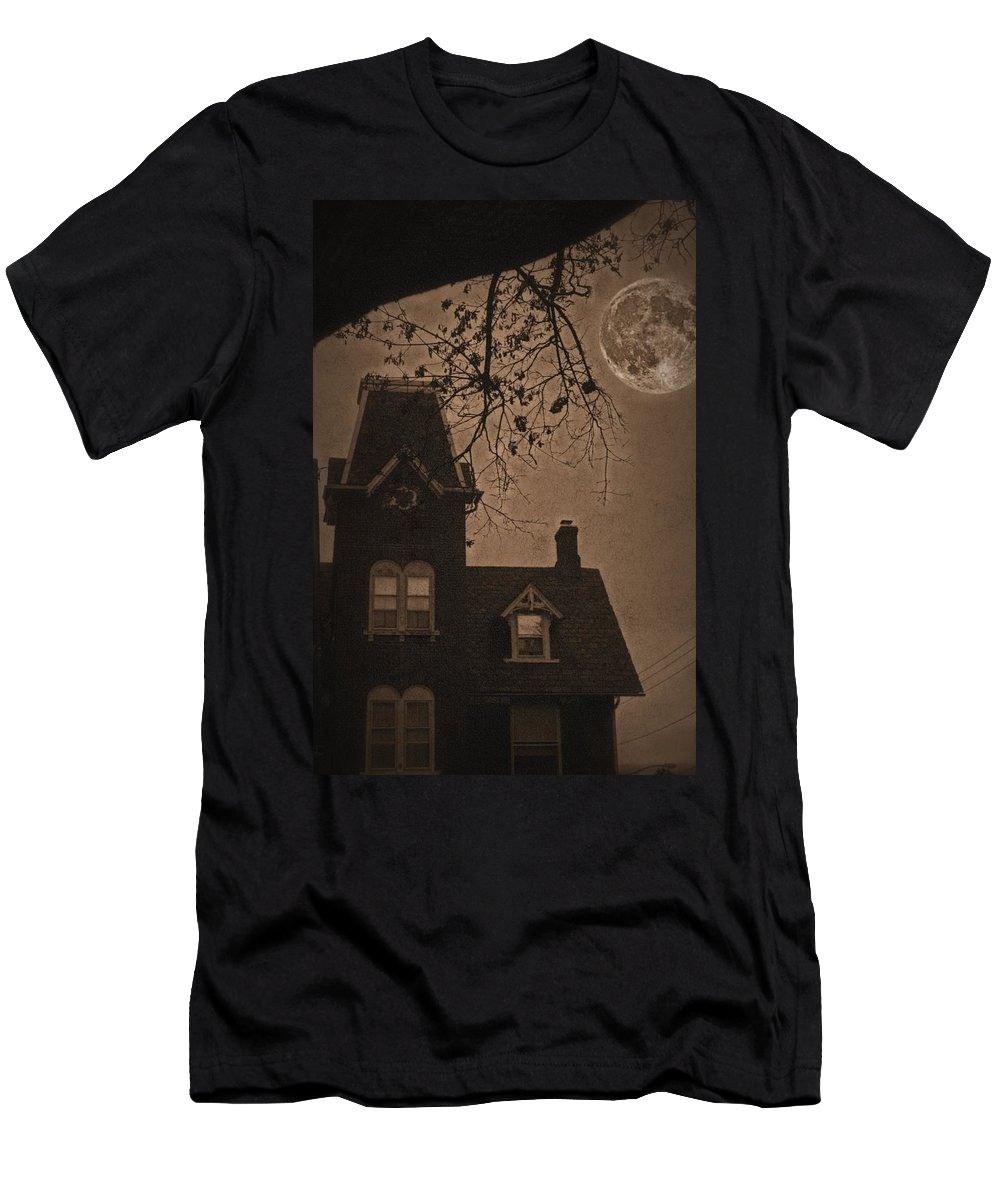 Bethlehem Men's T-Shirt (Athletic Fit) featuring the photograph Haunted by DJ Florek