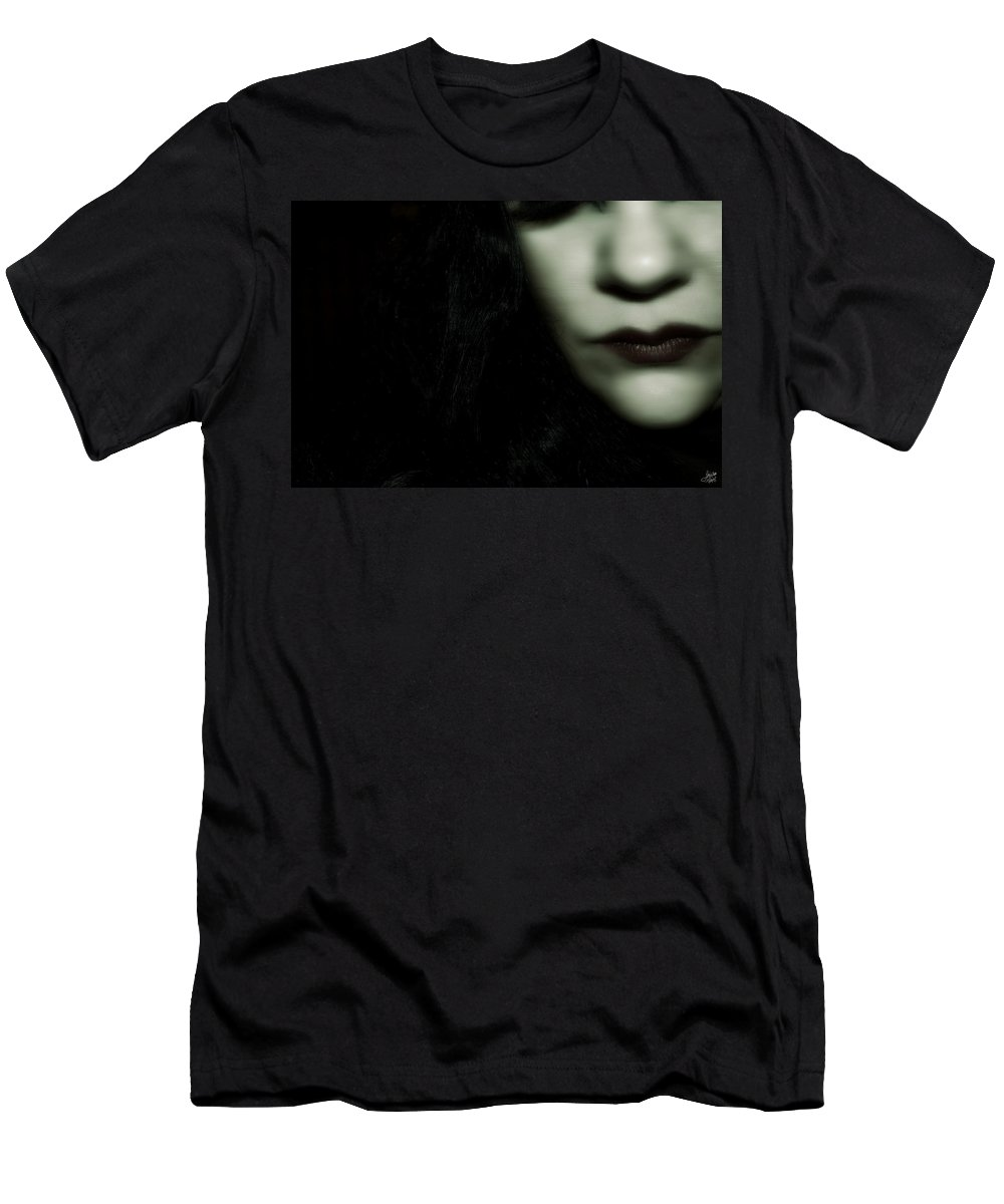 Halloween Men's T-Shirt (Athletic Fit) featuring the photograph Haunted by Lisa Knechtel
