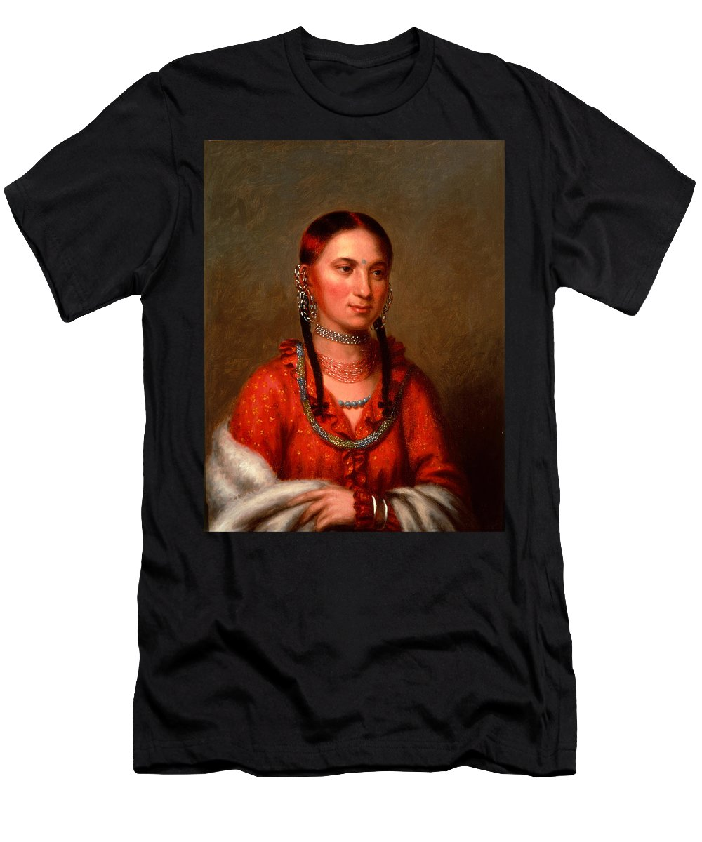 Charles Bird King Men's T-Shirt (Athletic Fit) featuring the painting Hayne Hudjihini . Eagle Of Delight Oto by Charles Bird King