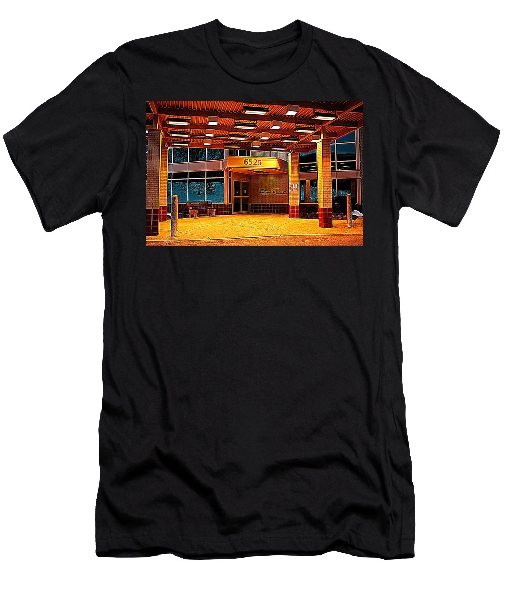 Hdr Men's T-Shirt (Athletic Fit) featuring the photograph Hdr Medical Building by Frozen in Time Fine Art Photography