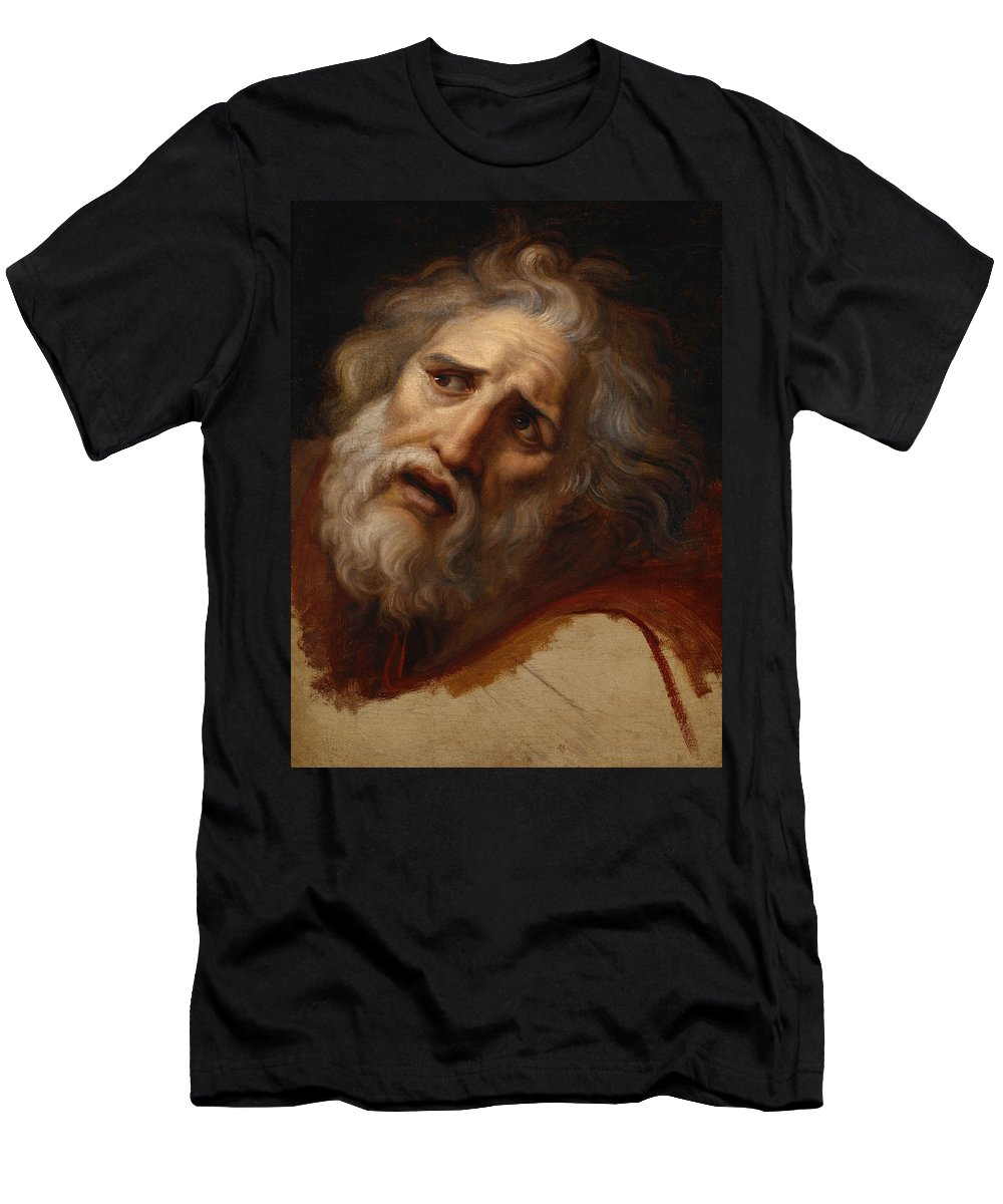 Andrea Appiani Men's T-Shirt (Athletic Fit) featuring the painting Head Of Laocoon by Andrea Appiani