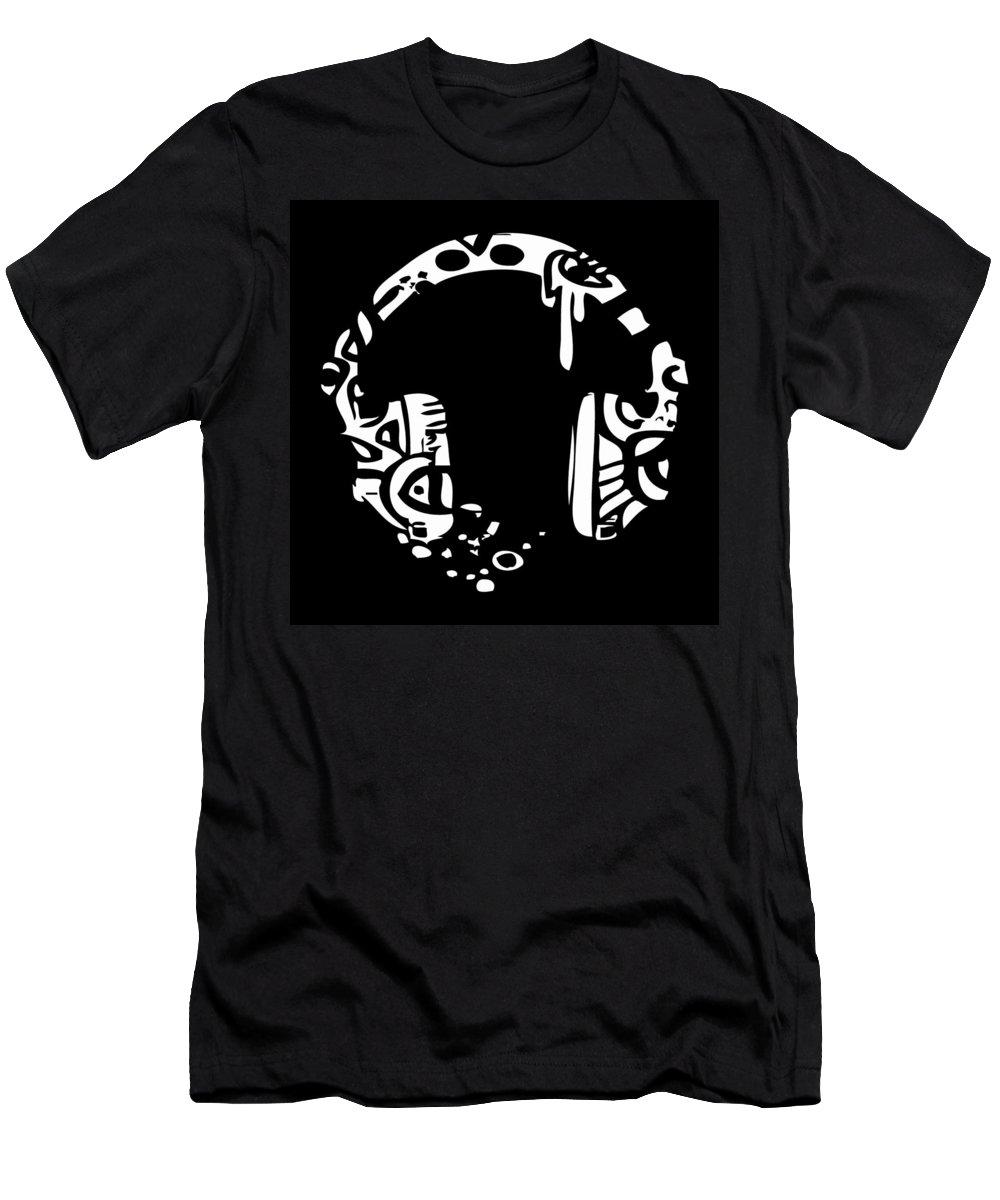 Headphones Men's T-Shirt (Athletic Fit) featuring the digital art Head Of The Class by Kamoni Khem