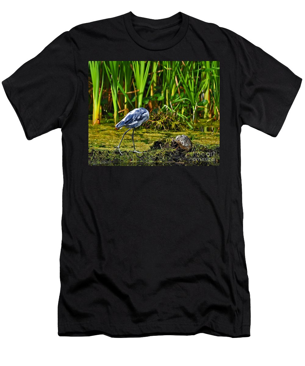 Heron Men's T-Shirt (Athletic Fit) featuring the photograph Headless Heron by Al Powell Photography USA
