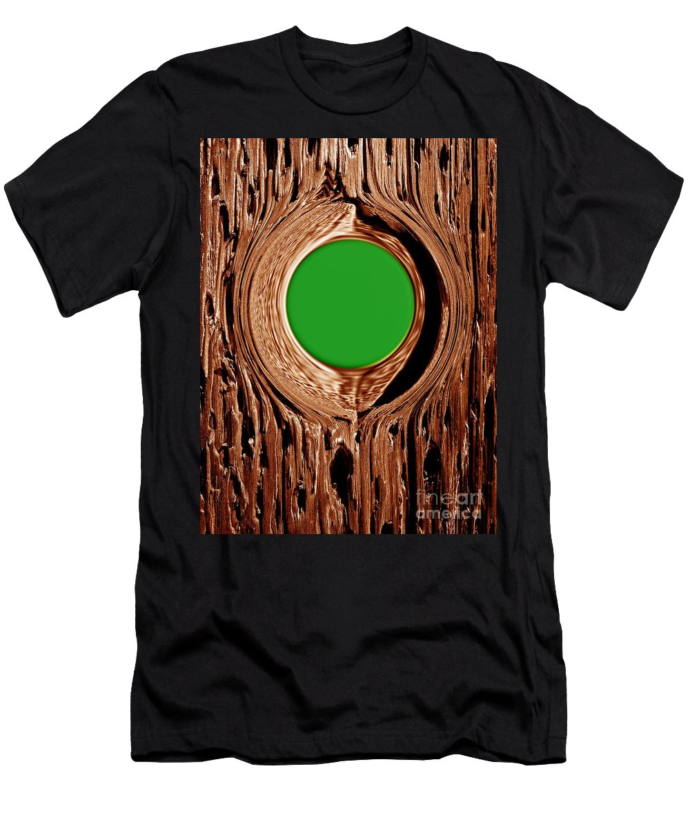 Abstract Men's T-Shirt (Athletic Fit) featuring the digital art Heart Beat Of The Tree by Fei A