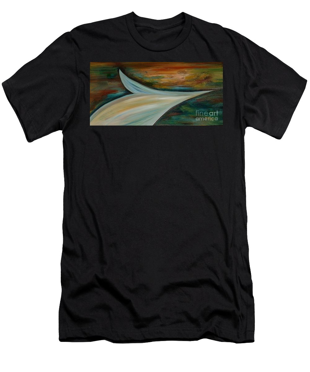 Abstract Men's T-Shirt (Athletic Fit) featuring the painting Heaven by Silvana Abel