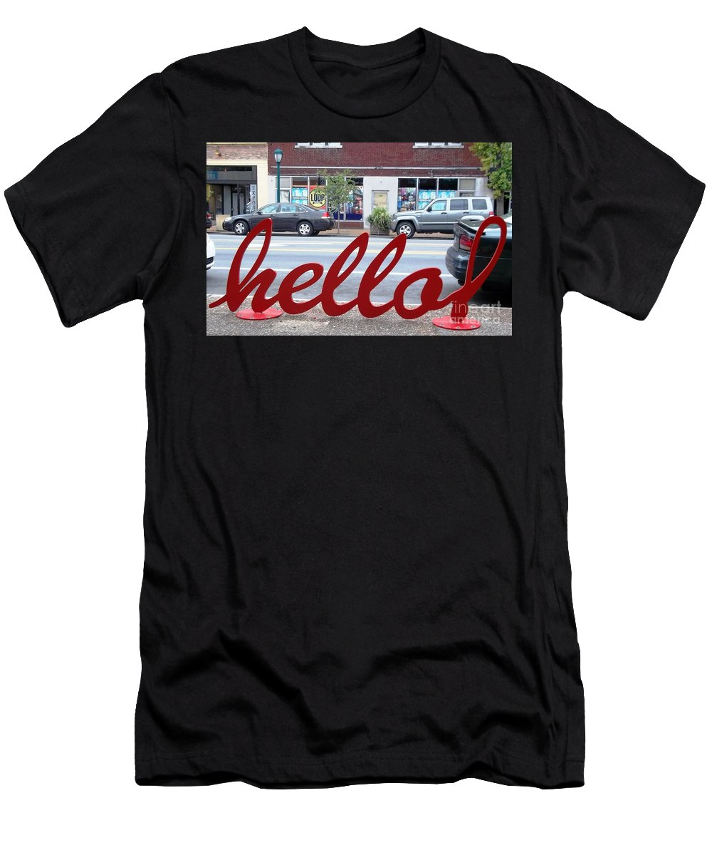 Men's T-Shirt (Athletic Fit) featuring the photograph Hello by Kelly Awad