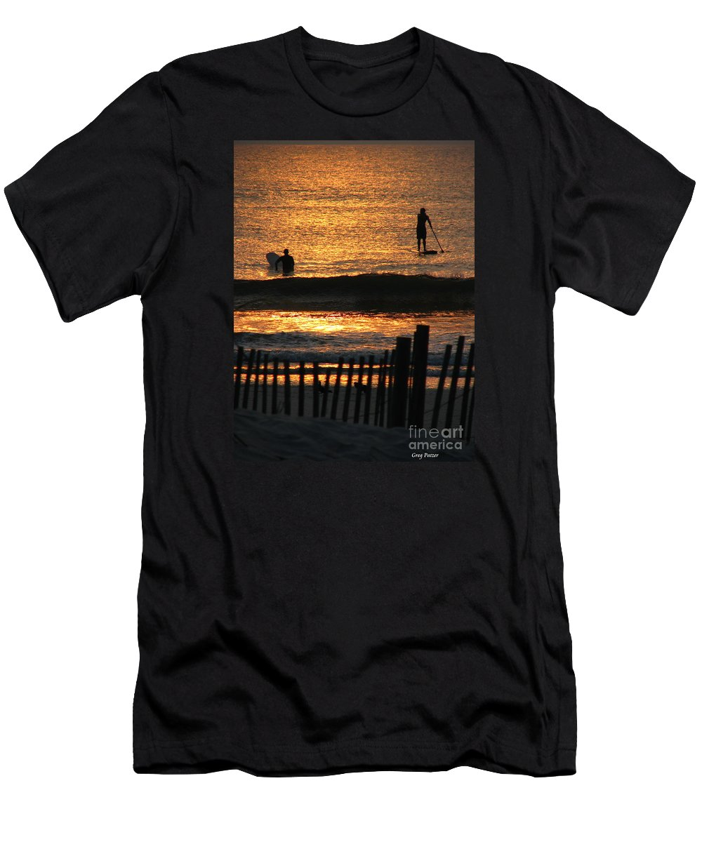Art For The Wall...patzer Photography Men's T-Shirt (Athletic Fit) featuring the photograph Here Comes The Sun by Greg Patzer
