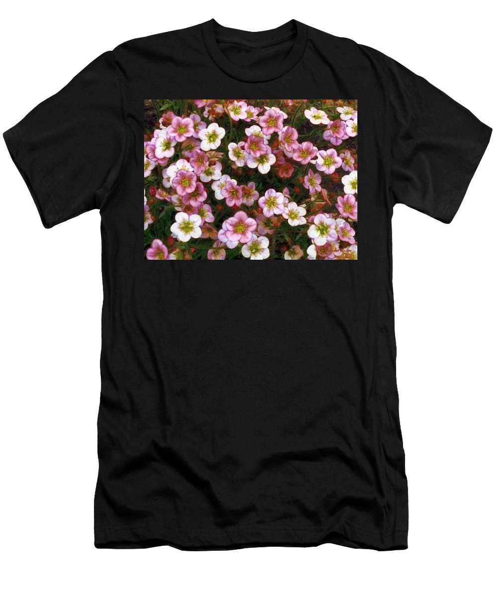 Blossoms Men's T-Shirt (Athletic Fit) featuring the painting Here's Flowers For You by RC DeWinter