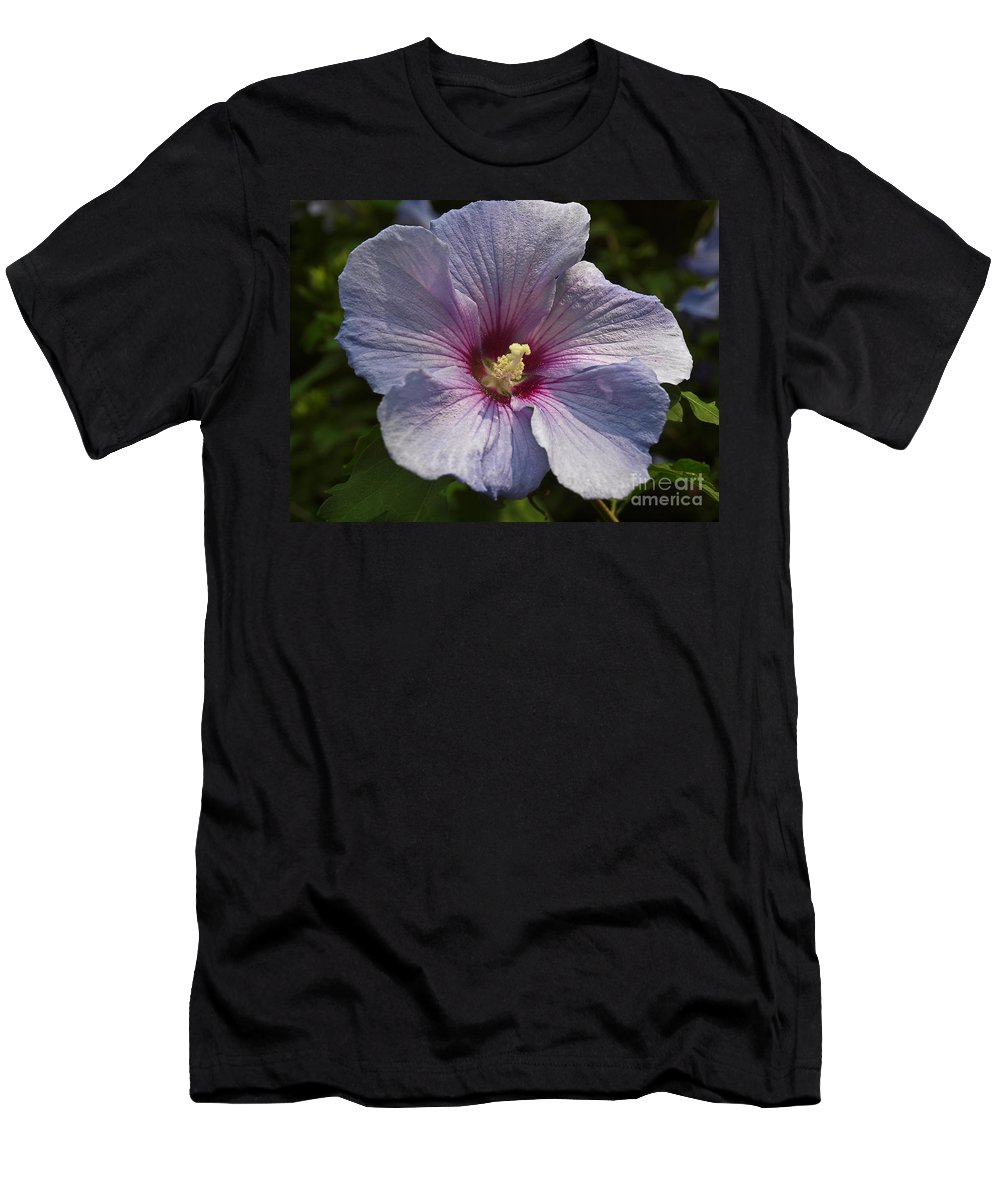 Bloom Men's T-Shirt (Athletic Fit) featuring the photograph Hibiscus by Howard Stapleton