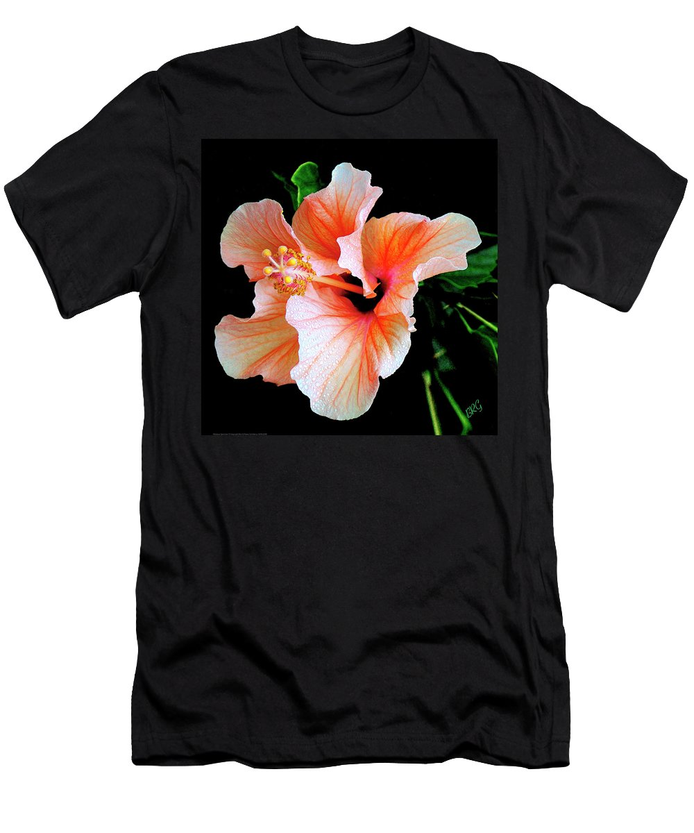 Tropical Flower Men's T-Shirt (Athletic Fit) featuring the photograph Hibiscus Spectacular by Ben and Raisa Gertsberg