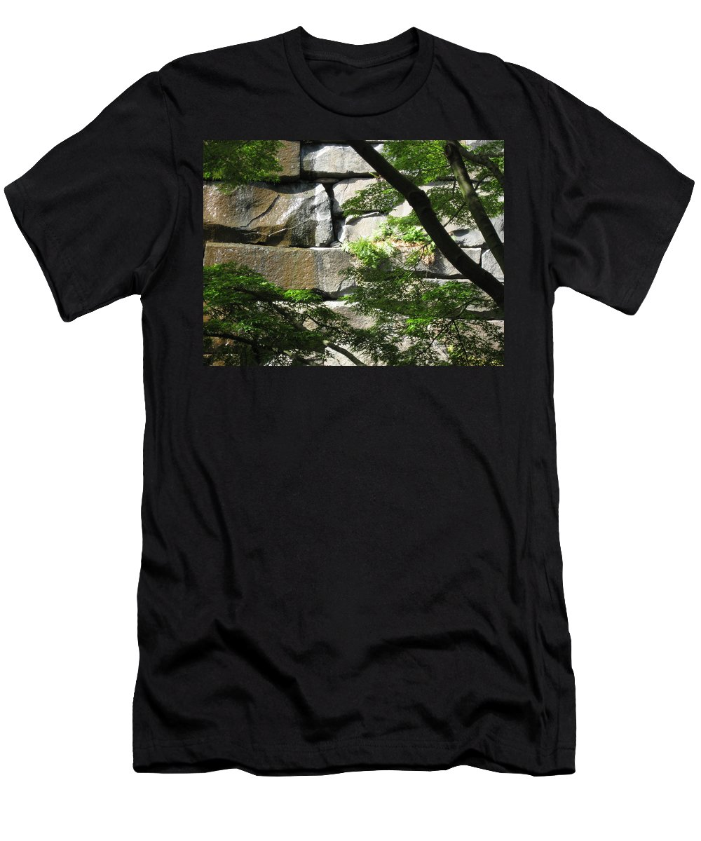 Seattle Men's T-Shirt (Athletic Fit) featuring the photograph Hidden Waterfall by David Trotter