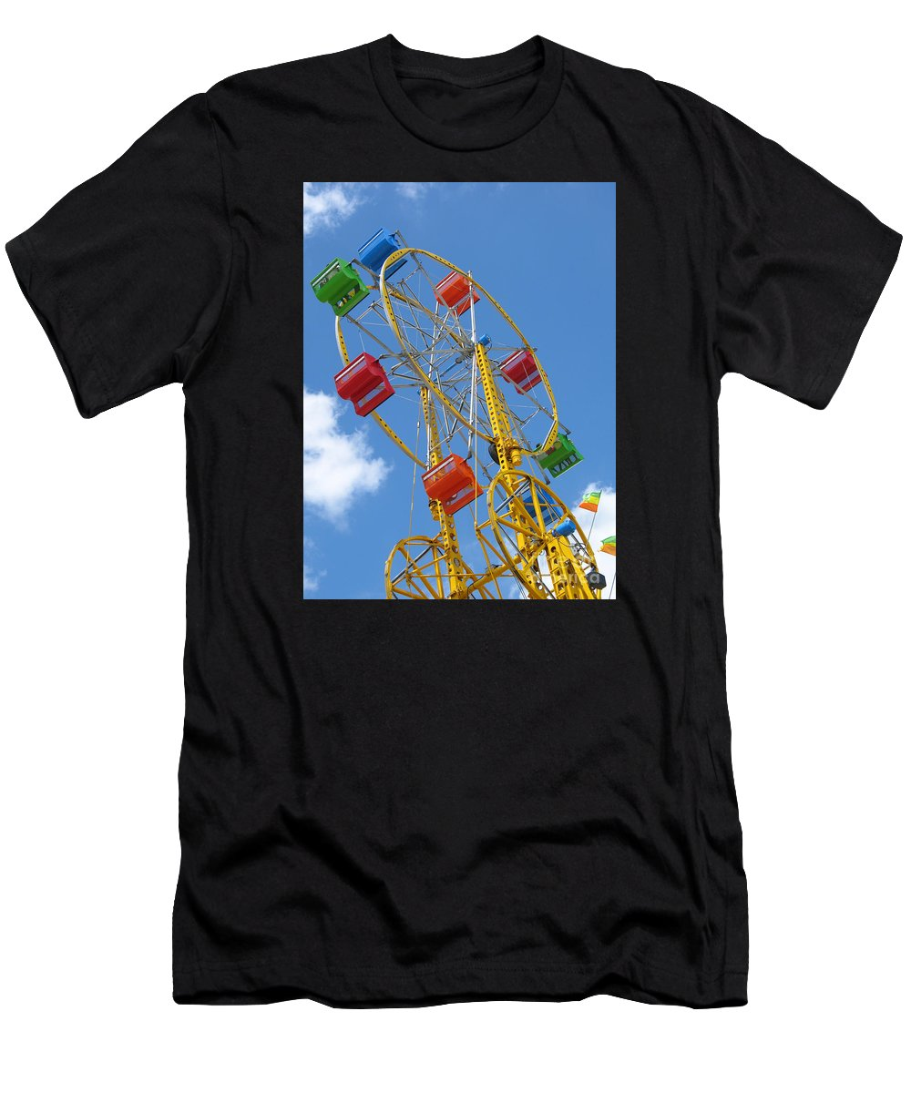 Carnival Men's T-Shirt (Athletic Fit) featuring the photograph High Wheeling by Ann Horn
