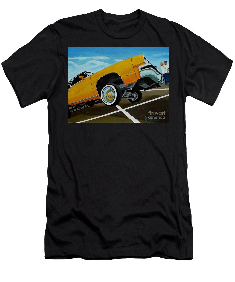 Chevy Men's T-Shirt (Athletic Fit) featuring the painting Hip Hoppin Chevy by Anthony Dunphy