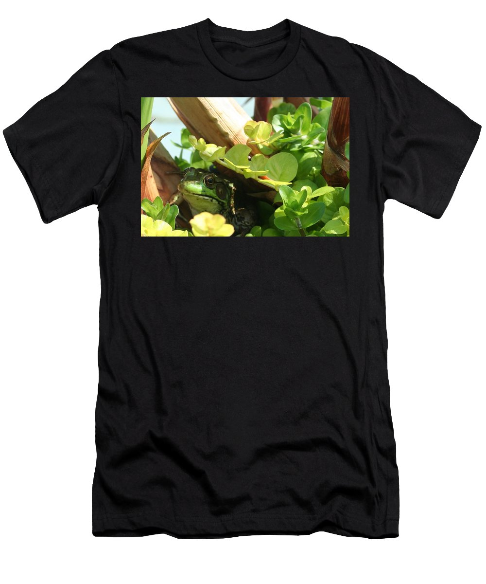 Frog Men's T-Shirt (Athletic Fit) featuring the photograph His Kingdom by Barbara S Nickerson
