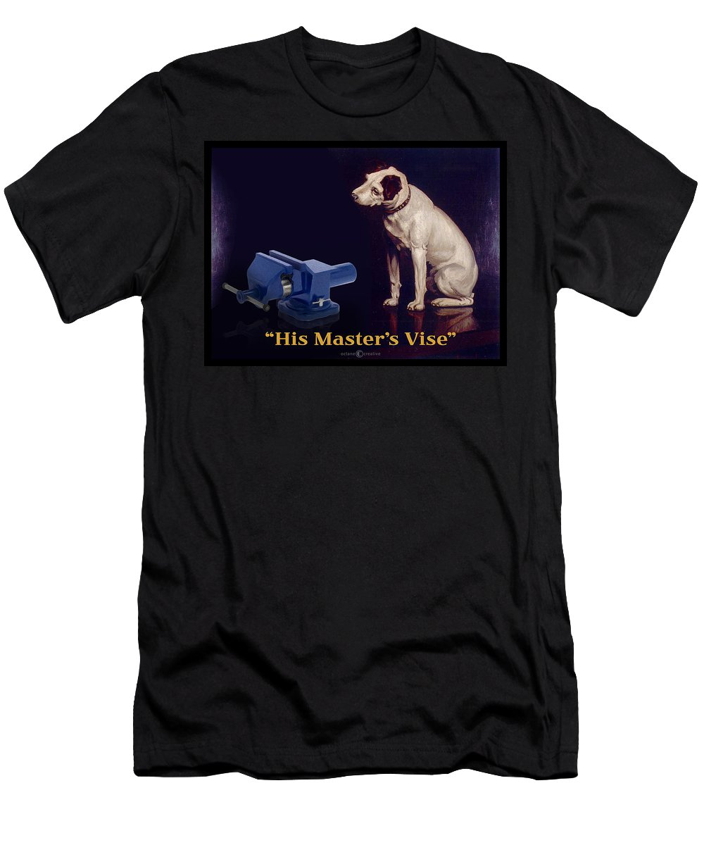 Parody Men's T-Shirt (Athletic Fit) featuring the painting His Master's Vise by Tim Nyberg