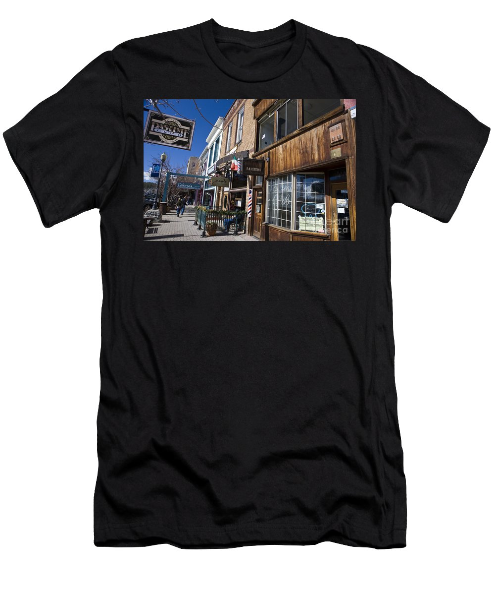 Travel Men's T-Shirt (Athletic Fit) featuring the photograph Historic Downtown Truckee California by Jason O Watson