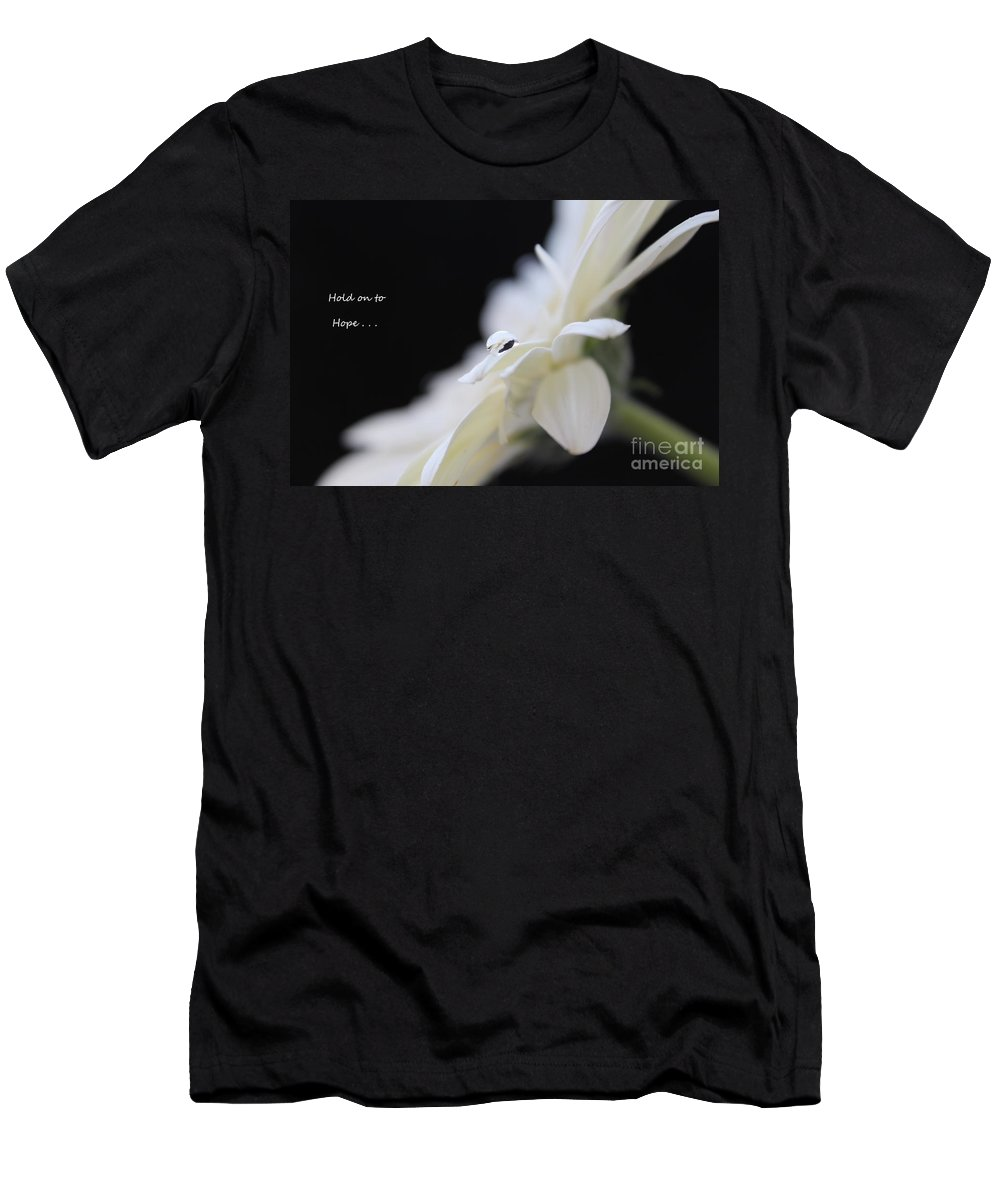 Daisy Men's T-Shirt (Athletic Fit) featuring the photograph Hold On To Hope by Krissy Katsimbras