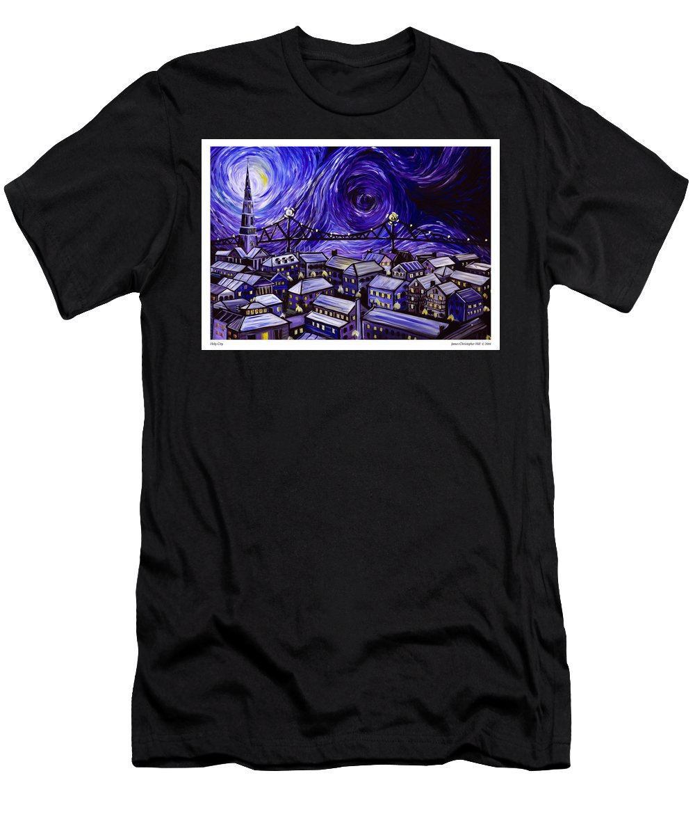 Nature T-Shirt featuring the painting Holy City by James Christopher Hill