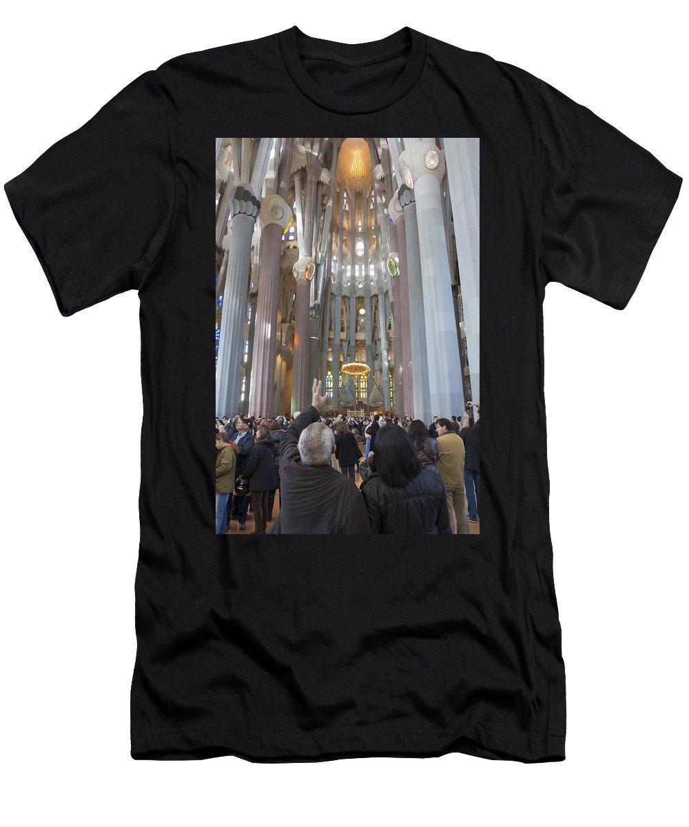 Antoni Gaudi Men's T-Shirt (Athletic Fit) featuring the photograph Holy Family by Antonio Macias Marin
