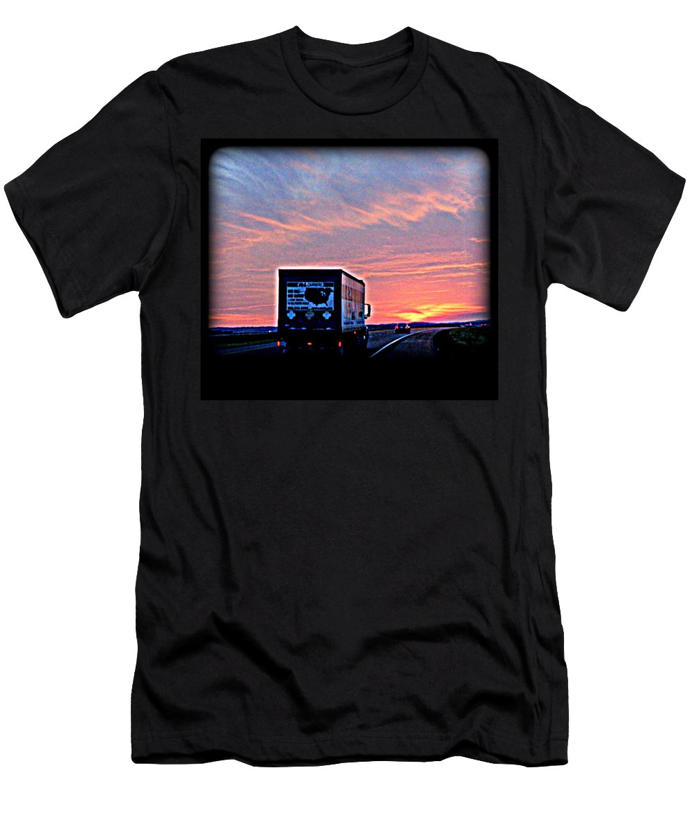 Truck Men's T-Shirt (Athletic Fit) featuring the digital art Homeward Bound by Victoria Beasley