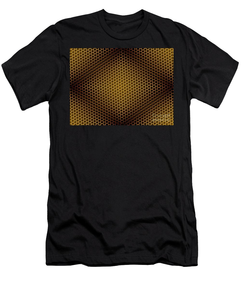 Seamless Men's T-Shirt (Athletic Fit) featuring the digital art Honeycomb Background Seamless by Henrik Lehnerer