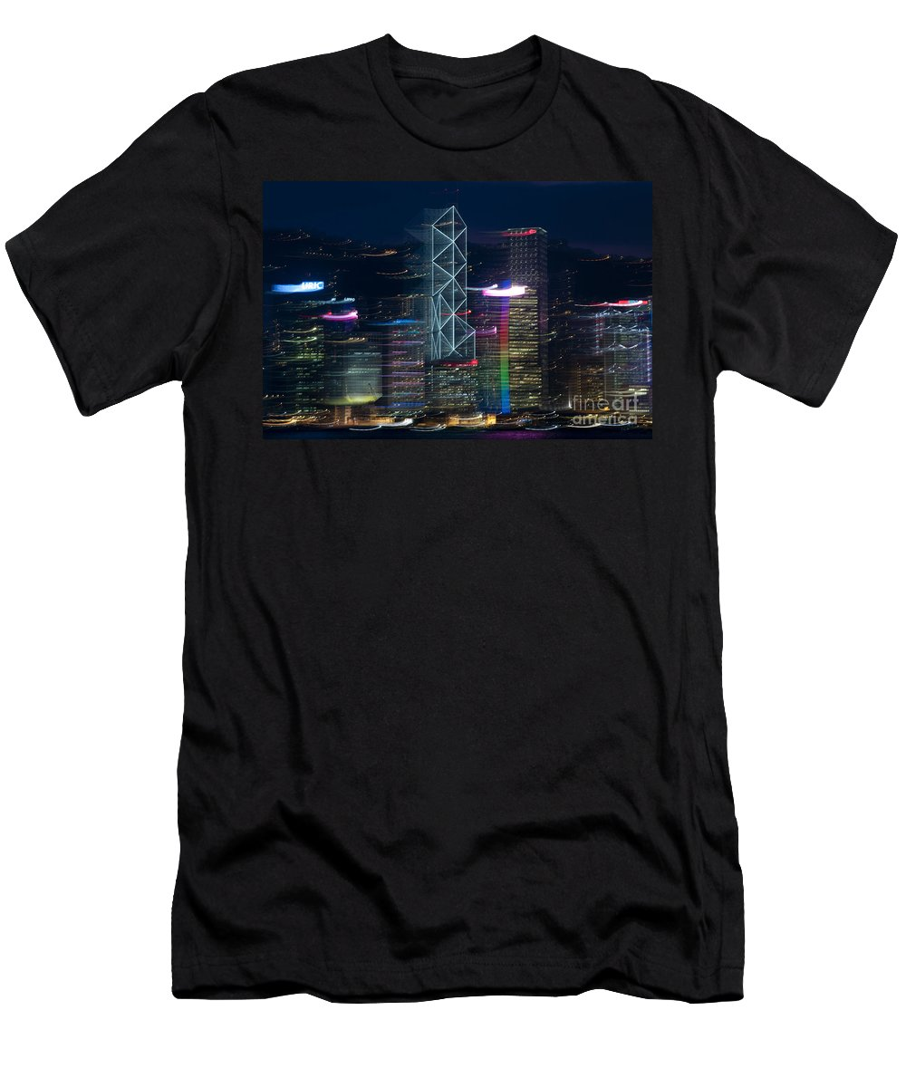 Asia Men's T-Shirt (Athletic Fit) featuring the photograph Hong Kong by Lana Enderle