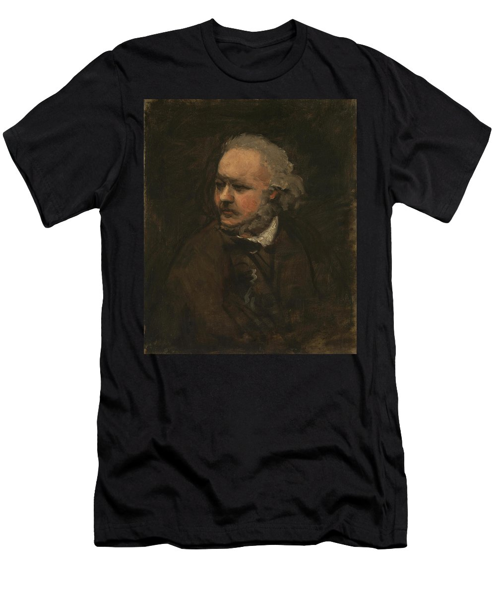 Charles-francois Daubigny Men's T-Shirt (Athletic Fit) featuring the painting Honore Daumier by Charles-Francois Daubigny