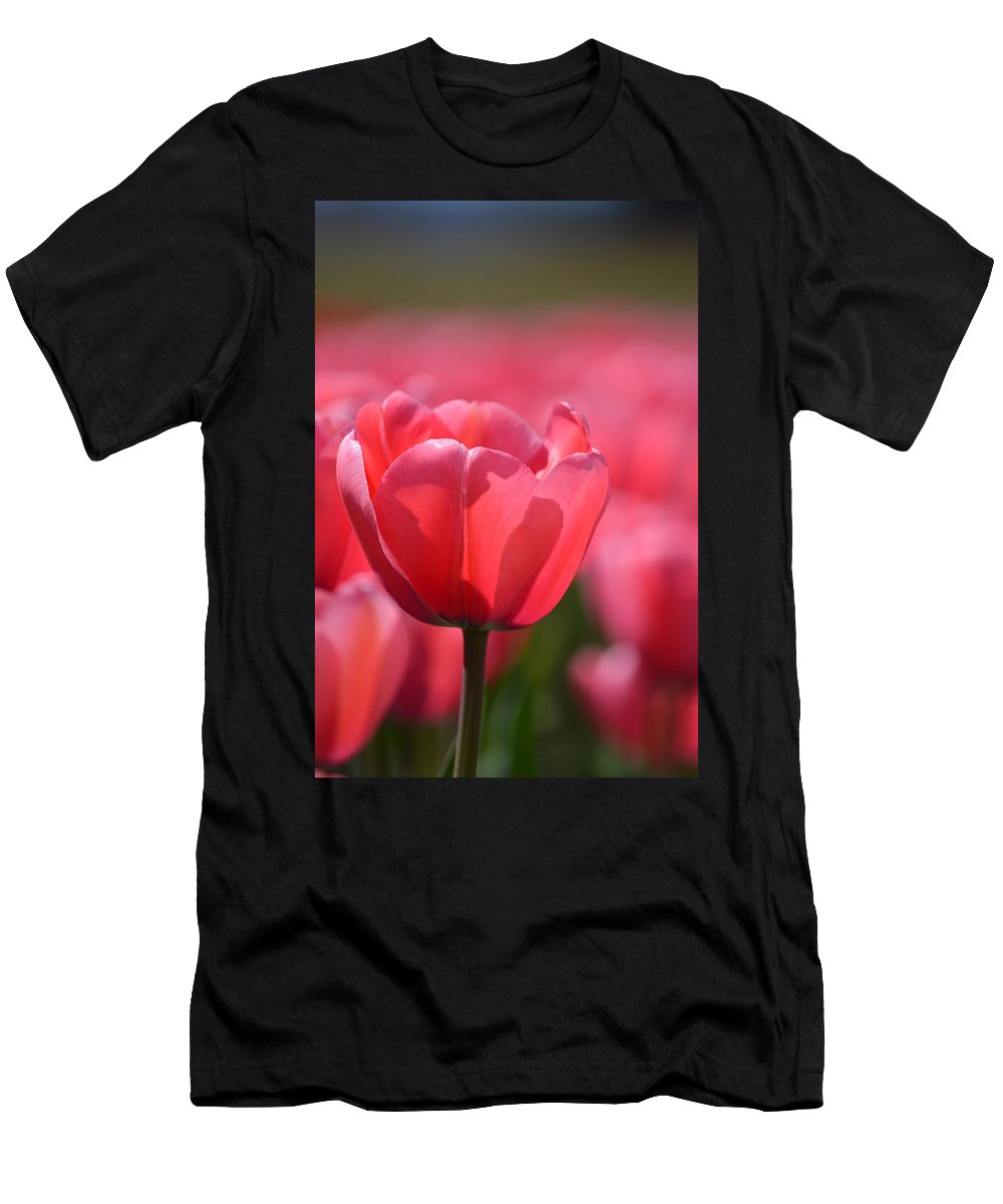 Tulip Men's T-Shirt (Athletic Fit) featuring the photograph Hope by Jan Noblitt