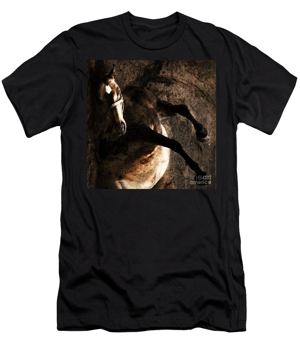 Horse Men's T-Shirt (Athletic Fit) featuring the photograph Horse Art by Angel Tarantella