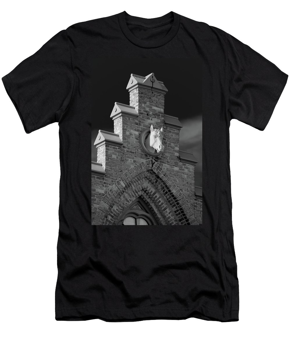 Appleton Men's T-Shirt (Athletic Fit) featuring the photograph Horsehead  8256 by Guy Whiteley