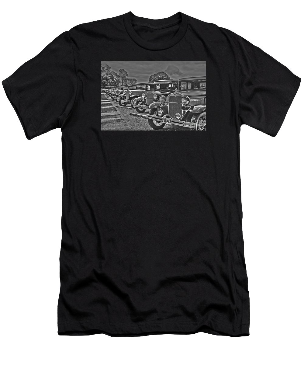 Travel Men's T-Shirt (Athletic Fit) featuring the photograph Horseless Carriages by Elvis Vaughn