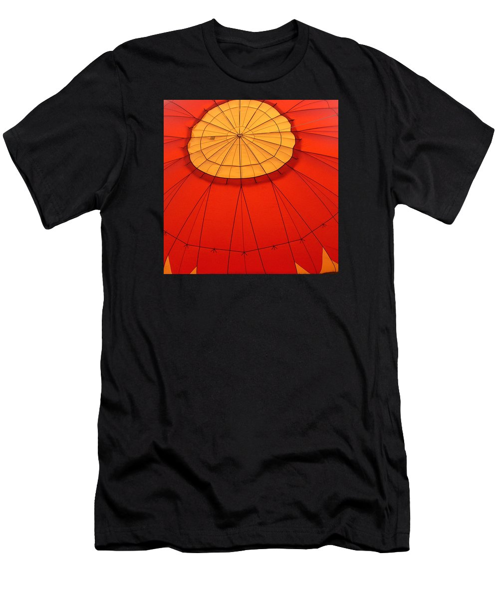 Reno Men's T-Shirt (Athletic Fit) featuring the photograph Hot Air Balloon At Dawn by Art Block Collections