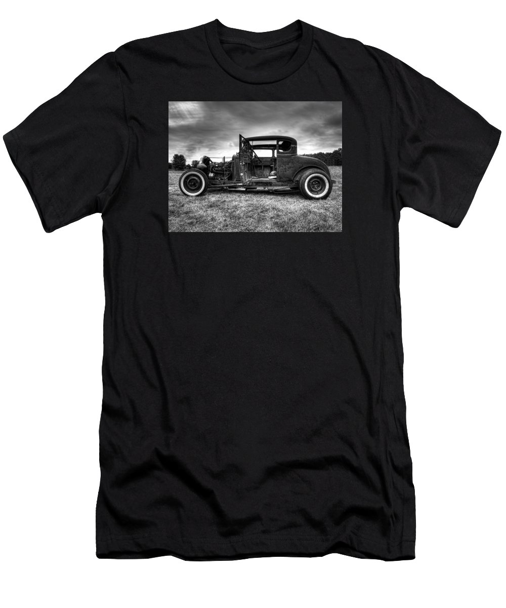 Hot Rod Men's T-Shirt (Athletic Fit) featuring the photograph Hot Rod Revisited by Thomas Young