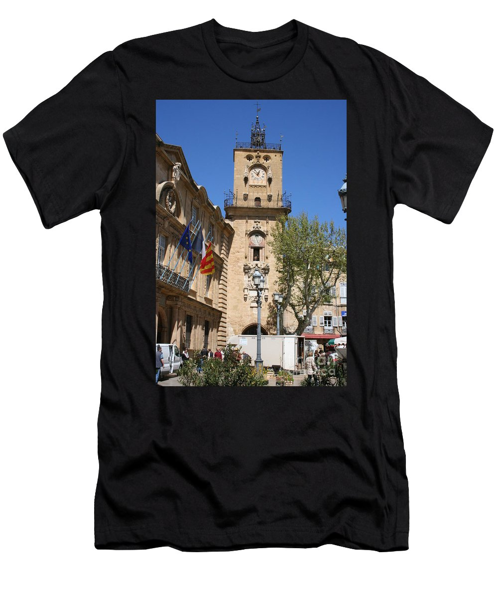 City Hall Men's T-Shirt (Athletic Fit) featuring the photograph Hotel De Ville - Aix En Provence by Christiane Schulze Art And Photography