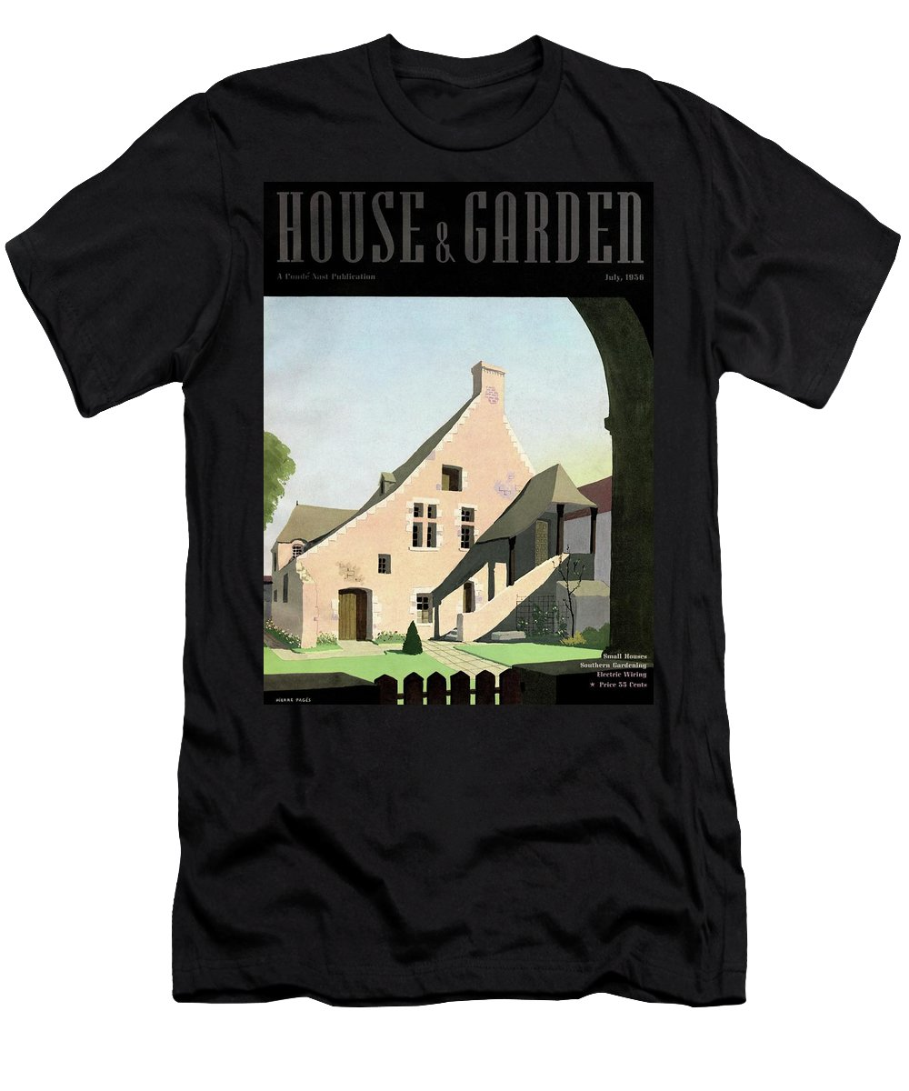 House & Garden T-Shirt featuring the photograph House & Garden Cover Illustration Of An Historic by Pierre Pages